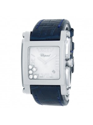 Chopard Happy Sport Square Stainless Steel Diamonds White Watch 288447-3001