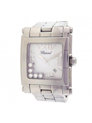 Chopard Happy Sport 288467-3001 Stainless Steel Quartz Diamonds White Watch
