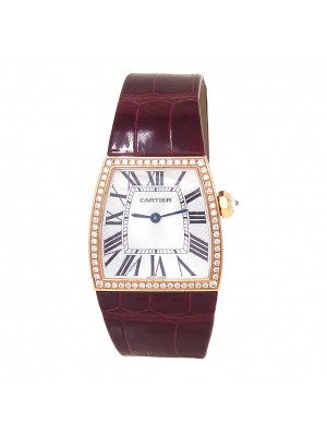 Cartier La Dona 18k Rose Gold Swiss Quartz Diamond Bezel Ladies Watch 2896