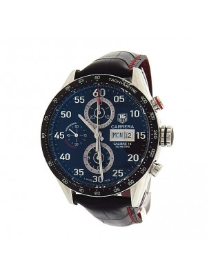 Tag Heuer Carrera CV2A10.FT6005 Stainless Steel Chronograph Black Men's Watch