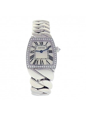 Ladies 18k Solid White Gold Cartier La Dona 2905 High Grade Quartz Swiss Watch