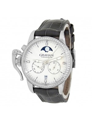 Graham Chronofighter Stainless Steel Diamond Silver Men's Watch 2CXCS.S06A.C158S