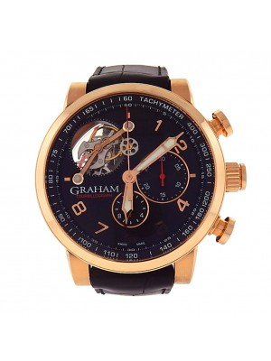 Graham Silverstone Tourbillograph 2TSAR.B04B.C114B 18k Rose Gold Men's Watch