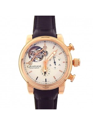 Graham Silverstone Tourbillograph 2TWBR.SO4A.C104B 18k Rose Gold Automatic Watch