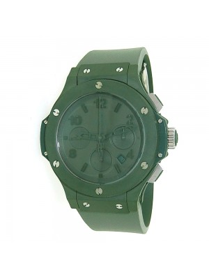New Men's Hublot Big Bang Green Ceramic 301.GI.5290.RG Automatic Rubber Watch