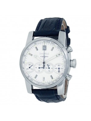 Eberhard & Co Chrono 4 Stainless Steel Leather Auto Silver Men's Watch 31041