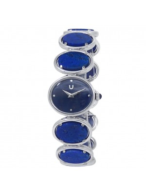 Universal Geneve Vintage 18k White Gold Manual Blue Lapis Ladies Watch 310507/10