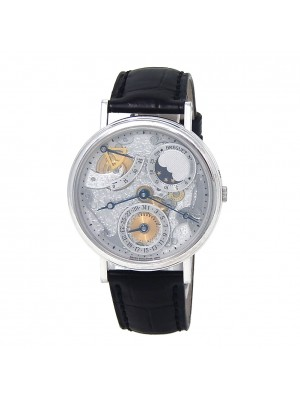 Breguet Classique Power Reserve 18k White Gold Automatic Men's Watch 3135