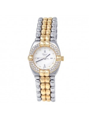 Chopard Gstaad 18k Yellow Gold Stainless Steel Diamonds Ladies Watch 32/8112