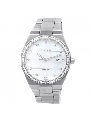 Concord Mariner Stainless Steel Diamonds Mother of Pearl Men's Watch 320364