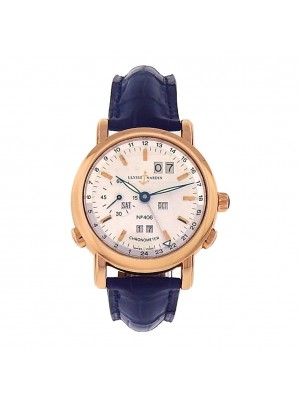 Ulysse Nardin 18k Sold Rose Gold 322-88 GMT Perpetual Calendar Auto Dress Watch