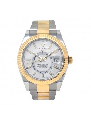 Rolex Sky-Dweller 18k Yellow Gold & Stainless Steel W.D Auto Men's Watch 326933