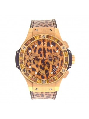 Hublot Big Bang Leopard 18k Rose Gold Automatic Men's Watch 341.PX.7610.NR.1976