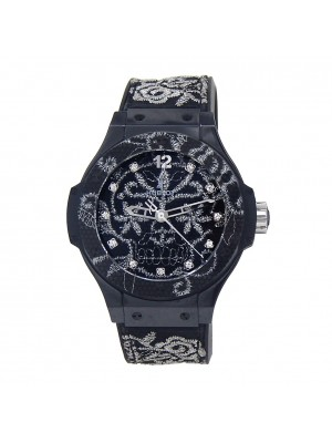 Hublot Big Bang Broderie Black Ceramic Automatic Mens Watch 343.CS.6570.NR.BSK16