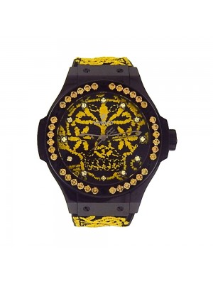 Hublot Big Bang Broderie Sugar Skull Black Automatic Watch 343.CY.6590.NR.1211