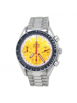 Omega Speedmaster Yellow Dial Stainless Steel Automatic Men's Watch 3510.12.00