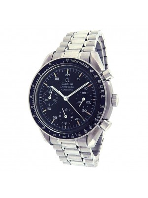 Omega Speedmaster Stainless Steel Black Dial Automatic Chronograph Watch 3510500