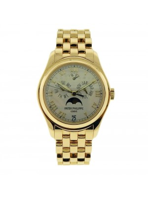 Patek Philippe Complications 5036J Yellow Gold Mens Automatic Silver Dial Watch