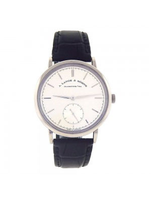A.Lange & Sohne Saxonia 18k White Gold Silver Dial Automatic Men's Watch 380.026