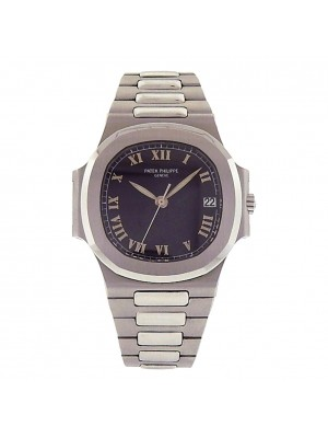 Patek Philippe Nautilus 3800 Stainless Steel Automatic Black Men's Watch