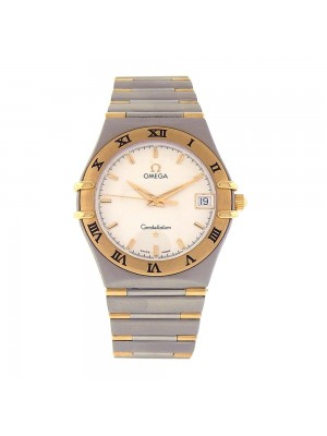 Omega Constellation Stainless Steel and 18k Yellow Gold Quartz Watch 396.1201