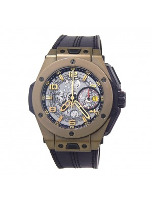 Hublot Big Bang Ferrari 18K Magic Gold Auto Skeleton Men's Watch 401.MX.0123.VR