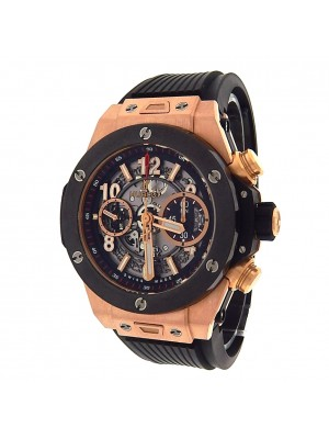 Hublot Big Bang Unico King Gold 411.OM.1180.RX 18K Chrono Auto Skeleton Watch