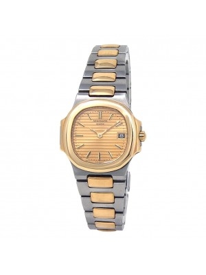 Patek Philippe Nautilus Stainless Steel & 18k Yellow Gold Quartz Watch 4700/1
