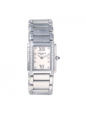 Patek Philippe Twenty 4 Stainless Steel Diamond Quartz Ladies Watch 4910/10A-011
