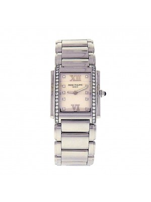 Patek Philippe Twenty-4 4910/10A-011 Quartz Diamonds White Ladies Watch