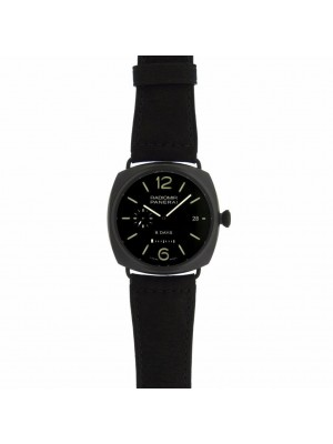 Panerai Radiomir 8 Day PAM00384 Black Ceramic Black Suede Leather Watch