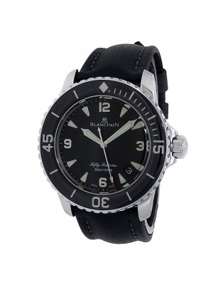 Blancpain Fifty Fathoms Stainless Steel Automatic Black Men's Watch 5015-1130-52