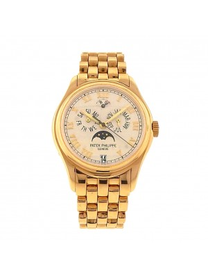 Patek Philippe Annual Calendar 5036J 18k Yellow Gold Automatic Silver Men Watch