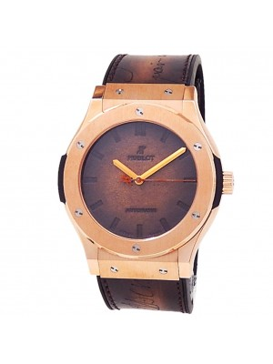 Hublot Classic Fusion Berluti Scritto Rose Gold Brown Watch 511.OX.0500.VR.BER16
