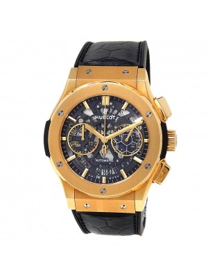 Hublot Classic Fusion Pele 18k Yellow Gold Skeleton Watch 525.VX.0179.VR.PEL14