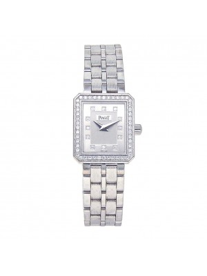 Piaget Protocole 18k White Gold Swiss Quartz Diamond Dial Ladies Watch 5355M601D
