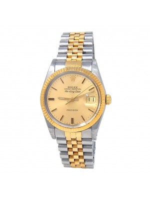 Rolex Air-King Date (R Serial) 18k Yellow Gold & Stainless Steel Automatic 5701N