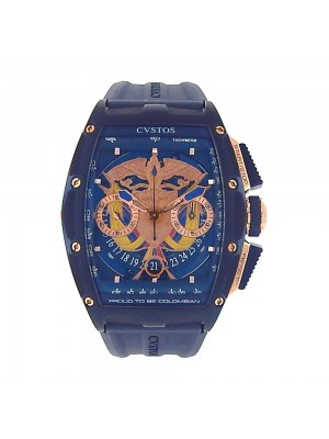 CVSTOS Challenge Pride of Colombia Blue Stainless Steel Automatic Watch 577COLO