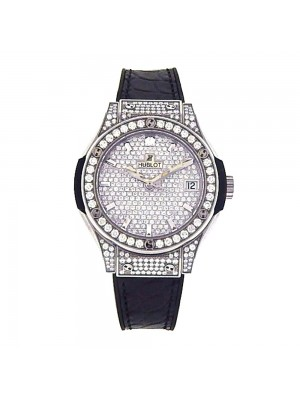 Hublot Classic Fusion Diamond Pave Dial and Bezel Quartz Watch 581.NX9010.LR1704