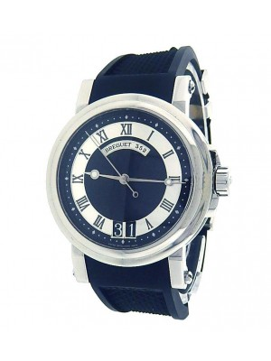 Breguet Marine 5817 Stainless Steel Automatic Rubber Silver & Black Men's Watch