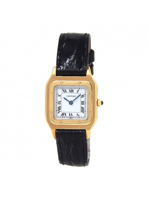 Cartier Santos 18k Yellow Gold Hand Winding Ladies Watch 60094