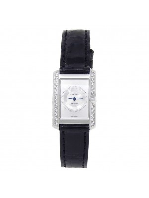 Concord Delirium 18k White Gold Diamond Quartz Silver Ladies Watch 61.C1.1420.1