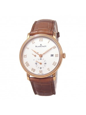 Blancpain Villeret 18k Rose Gold Manual Men's Watch 6606-3642-55B