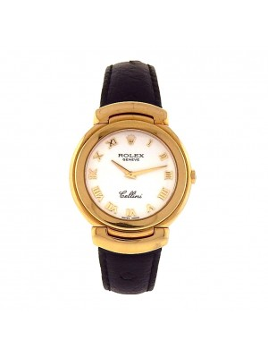 Men 18k Solid Gold Rolex Cellini Model 6622 Quartz Precision Classic Dress Watch