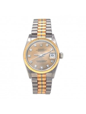 Rolex Datejust 18k White Gold & 18k Yellow Gold Automatic Ladies Watch 68279B