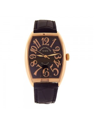 Franck Muller Cintree Curvex Sunset 18k Rose Gold Automatic Men's Watch 6850 SC