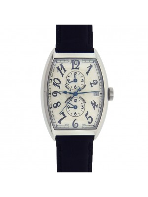 Franck Muller Master Banker 6850 MB Stainless Steel Leather Automatic Silver Men's Watch