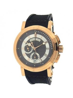 Breguet Marine Chronograph 5827 18k Rose Gold Automatic Black Men's Watch