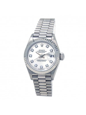 Rolex Datejust (U Serial) 18k White Gold Automatic Ladies Watch 69179