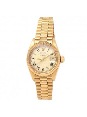 Rolex Datejust 18k Yellow Gold President Automatic Champagne Ladies Watch 6917